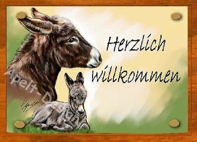 Esel   /   Schild  / Bild  / B44
