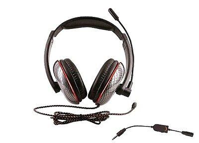 Cuffia Gaming PC Carbon Line con Microfono e Regolatore Volume 90473