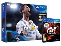 PlayStation 4 Slim 1TB FIFA 18 BUNDLE + GRAN TURISMO