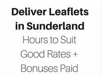 Sunderland Leaflet Distributor Needed - Self Employed, Part Time