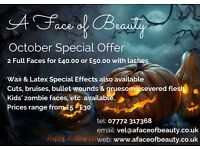Professional Mobile Make-up Artist in Liverpool - Special October Offer