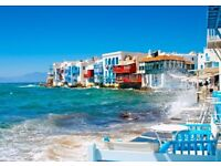 2 return flight tickets London - Mykonos Island, 11.Aug-15.Aug