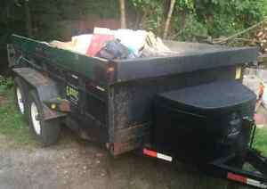 2009 JDJ 6x12' Tag Along Dump Trailer
