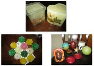23 Assorted Candles, Vintage & Partylite  Whole lot $5  Pick up