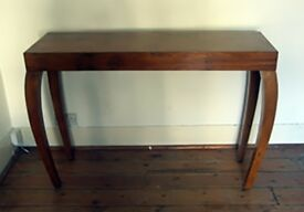 Console table in teak