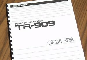 ROLAND-Rhythm-Composer-TR-909-Drum-Machine-OWNERS-MANUAL