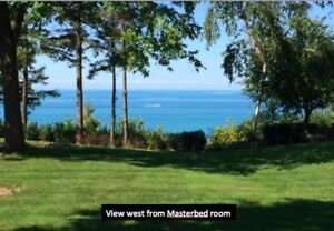 Privacy abounds at this quiet lakefront home near Bayfield ON