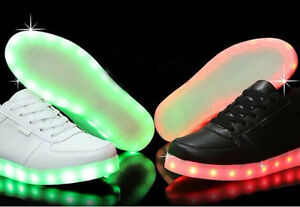 RECHARGEABLE 7 Color In 1 LED SNEAKERS! FLAshing lights!