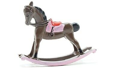 Dollhouse Miniatures 1:12 Scale Rocking Horse, Brown #IM65402B