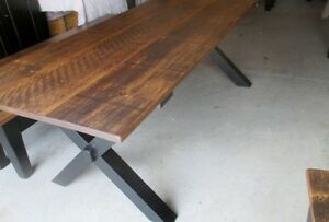 RUSTIC HARVEST TABLE WITH X BASE LAST WEEKEND THIS WEEKEND