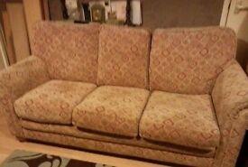 good sturdy sofa & armchair FREE FREE FREE FREE !!!!!!!!!