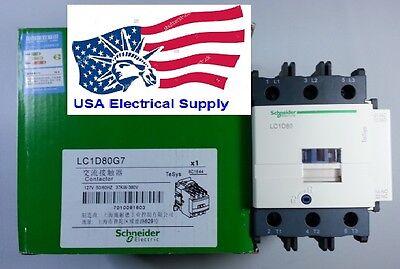 Lc1d80g7c Schneider Contactor Coil 120vac 5060hz 80a