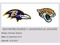 2 x NFL Tickets Baltimore Ravens vs Jacksonville Jaguars - Wembley Stadium 24th September