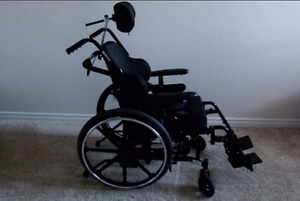 Adult Tilt Wheel Chair w/ Tray, Roho Cushion in GUC OBO