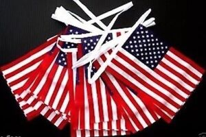 10 METRE USA AMERICAN FLAG FABRIC BUNTING 4TH JULY INDEPENDENCE DAY