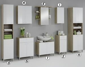 matching white washed oak bathroom vanity unit cabinets cupboard