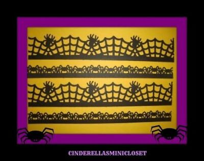 10 HALLOWEEN SPIDER WEB BORDERS DIE CUTS PUNCHES SCRAPBOOK MARTHA STEWART SPIDER](Halloween Spider Web Crafts)