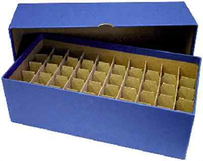 Guardhouse Coin Tube Storage Box, Heavy Duty - Nickel/Blue