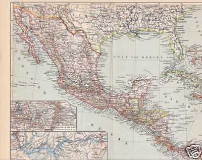Mittelamerika Karibik Honduras Cuba Landkarte von 1908