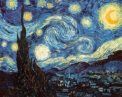 Starry Night by Vincent Van Gogh Poster Print 24x36  Unframed Free shipping