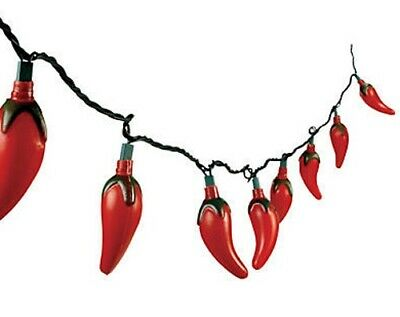 Chili Pepper Fiesta Lights - Mexican and Christmas light string Set, Cinco Mayo