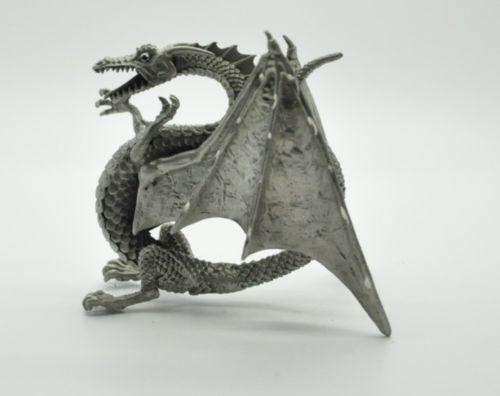 Pewter dragon figurines ebay - Pewter dragon statues ...