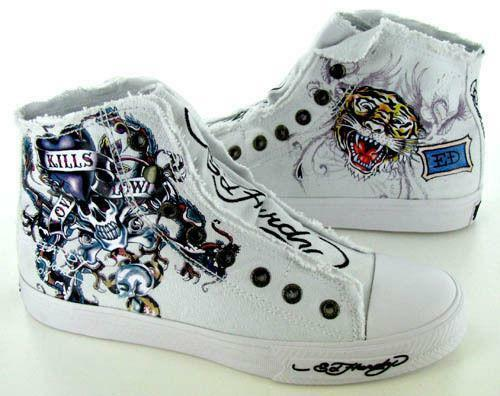 Ed Hardy High Top Shoes
