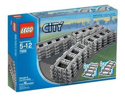 LEGO City Train 7896 Straight/Curved Tracks/Rails Power Functions No Box - NEW