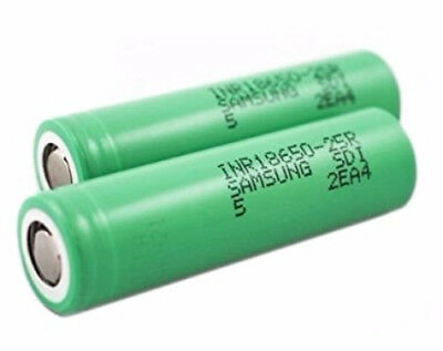 2x Samsung INR18650-25R 2500mAh 20A Rechargeable Battery for SMOKTech Vape Mods