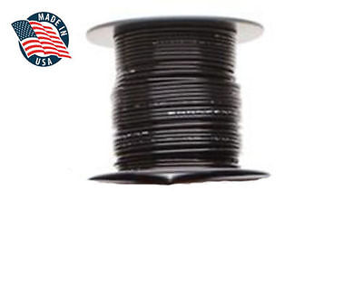 50ft Milspec High Temperature Wire Cable 18 Gauge Black Tefzel M2275916-18-0