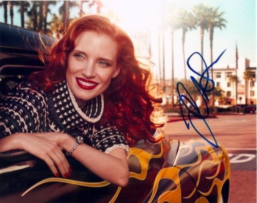 Jessica Chastain Sexy Autographed Signed 8x10 Photo COA #3