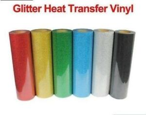 "1 Yard Top Quality Glitter Heat Transfer Vinyl  Width is 20"" Heat press transfer"
