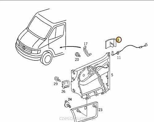 Sprinter Manual Window Regulator Crank Door Handle 1995