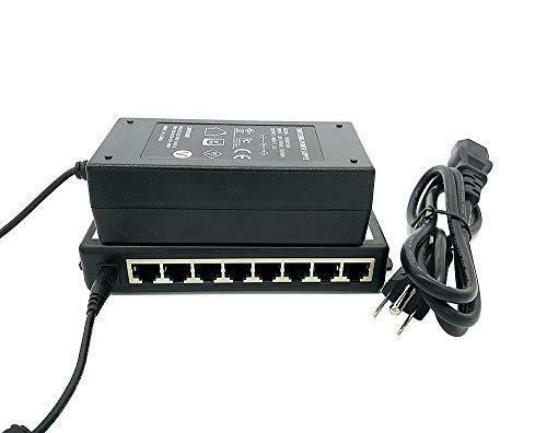 iCreatin 8-Port Passive Power Over Ethernet PoE+ Injector Adapter with 48V 65W