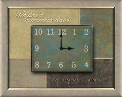 Wall Clock Shadow Box 10.75 x 13.5 x 1.5 Quartz,Wood & Glass,Imadine Design