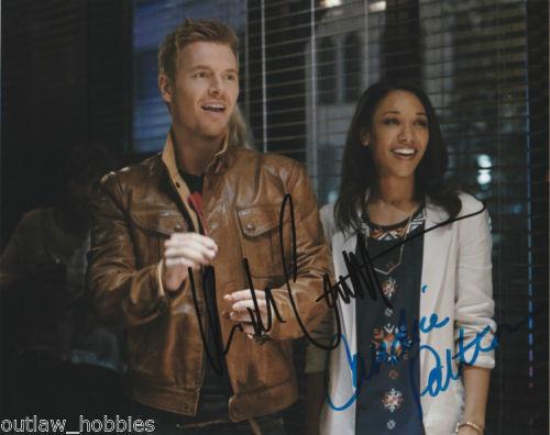 The Flash Candice Patton Rick Cosnett Autographed Signed 8x10 Photo COA E