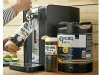 Phillips Perfect Draft Beer Machine Corona Bundle (6L Keg+2 Glasses)