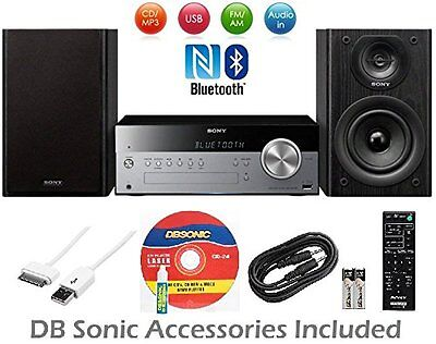 Sony Micro Home Audio System, Wireless NFC Bluetooth, MP3 CD Player, AM/FM Radio