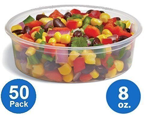 8oz Plastic Food Storage Containers with lids – Foodsave