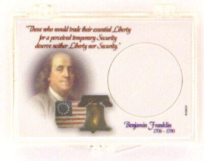 Franklin Half Dollar 2X3 Snap Lock Coin Holder, 3 pack