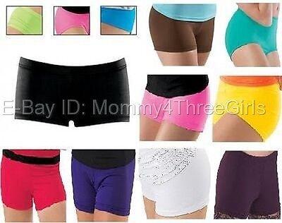 New Dance Gymnastics Cheer Booty Mini Bar Shorts Hot Pants Teen or Adult Sizes](Teen Booty Shorts)