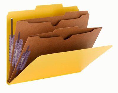 Smead 14084 Yellow Pressboard Classification Folders With Pocket-style Dividers Pocket Style Classification Folders