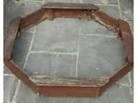 Plum octagon sandpit