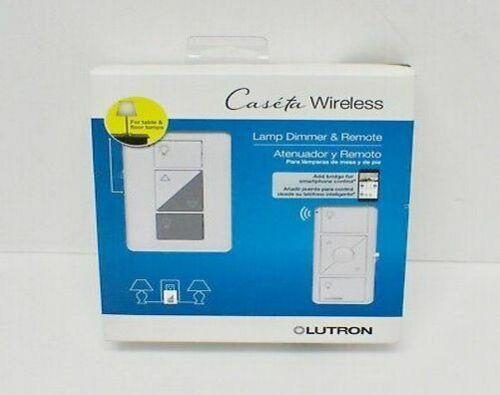 LUTRON Caseta Wireless Smart Dimmer and Remote Kit - White (P-PKG1P-WH-R)