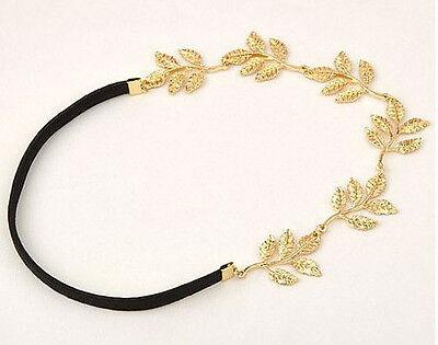 Quality Toga Party Greek or Roman Gold Leaves Elastic Black Headband SHIPS FAST! (Toga Roman Or Greek)