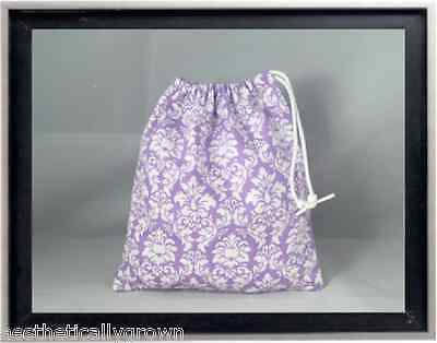 Gymnastics Leotard Grip Bags / Tiny Lavender Damask Gymnast Birthday Goody Bag