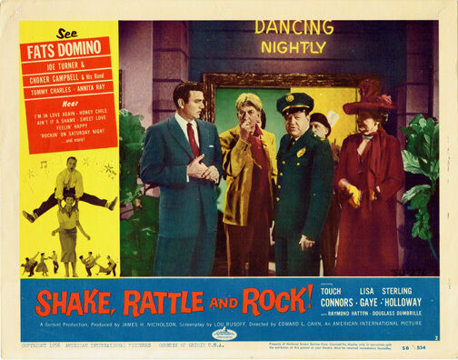 SHAKE RATTLE AND ROCK ORIGINAL LOBBY CARD TOUCH CONNORS LISA GAYE ANNITA RAY