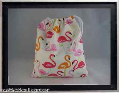 Gymnastics Leotard Grip Bags / Flaming Flamingos Gymnasts Birthday Goody Bag