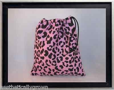 Gymnastics Leotard Grip Bags / Lavender Cheetah Gymnast Birthday Goody Bag
