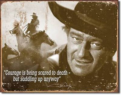 John Wayne Western Cowboy Reiten Metall Plakat Schild
